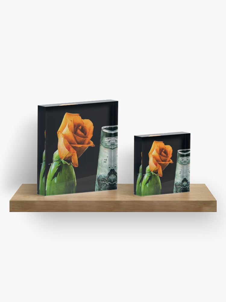 Alternate view of The Thirsty Rose Acrylic Block