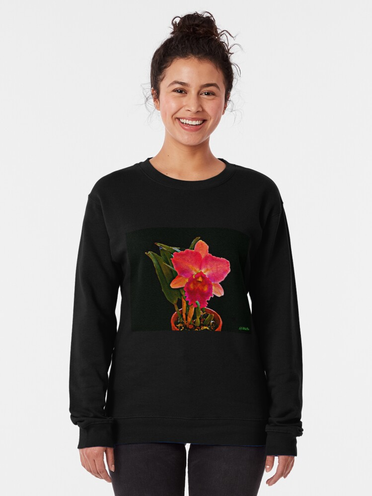 Alternate view of Painted Orchid Pullover Sweatshirt