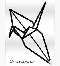 Origami Crane Poster