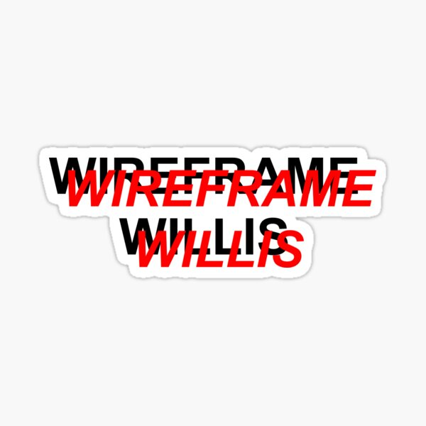 Wireframe Willis T-Shirt Sticker
