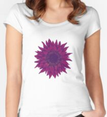 Purple flower Women's Fitted Scoop T-Shirt