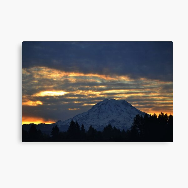 Sunrise on Mount Rainier Canvas Print