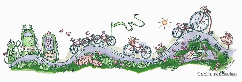 Wild and Free Bike by Cecilia Macaulay