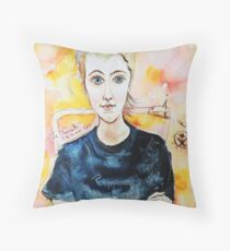 Beautiful Young Girl Throw Pillow