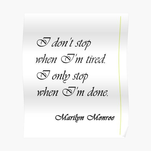 Marilyn Monroe - Citation Poster