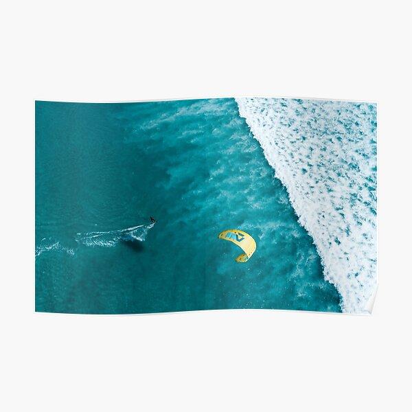 Kitesurf Print | Ocean Love | Waves Poster
