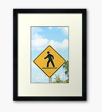 Pedestrian Crosswalk Sign Framed Print