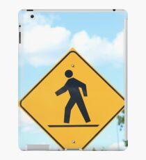 Pedestrian Crosswalk Sign iPad Case/Skin