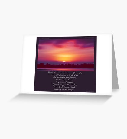 ~ Beyond Land's Reach ~ a collaboration with Donna Driver Greeting Card