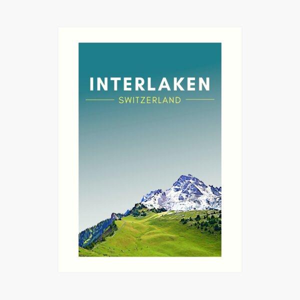 Interlaken - Digital Travel Art Art Print