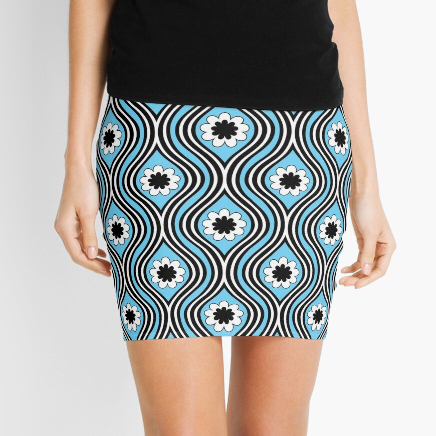 AmAzInG Funky 1960s Orange and Blue Tapestry Skirt
