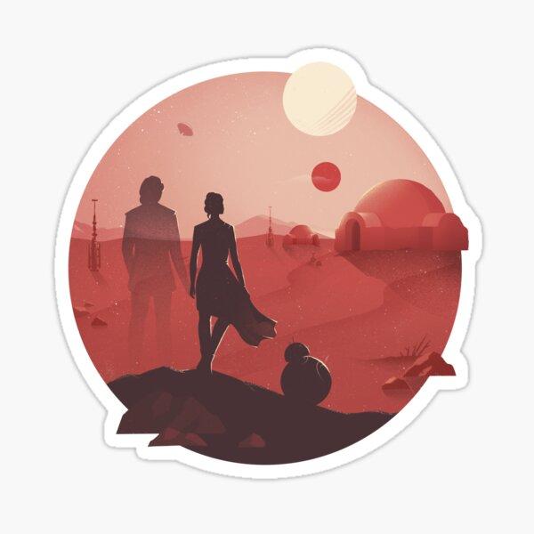 SW Tatooine Sunset Pegatina