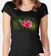 Camellia Japonica Women's Fitted Scoop T-Shirt