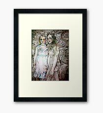 Twin Sisters Framed Print