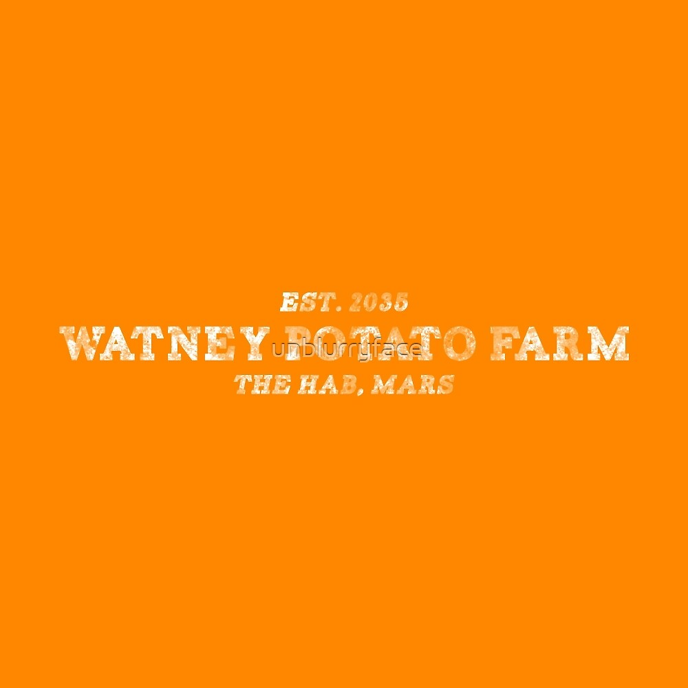 the martian - 'watney potato farm' vintage typography (sans circle) by unblurryface