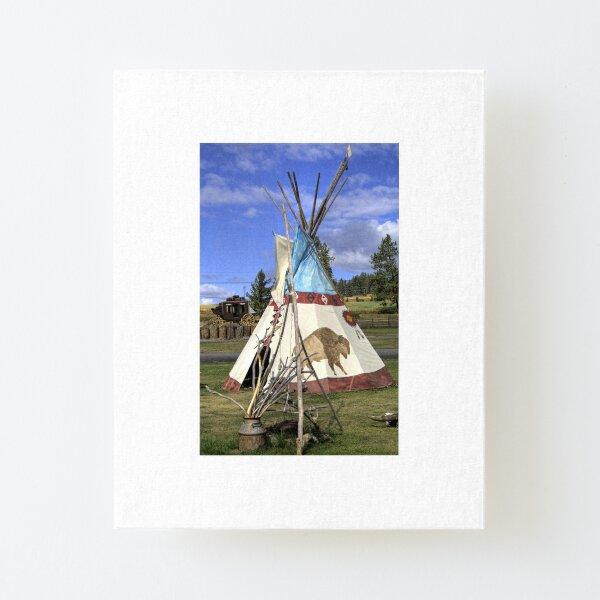 Teepee Canvas Mounted Print