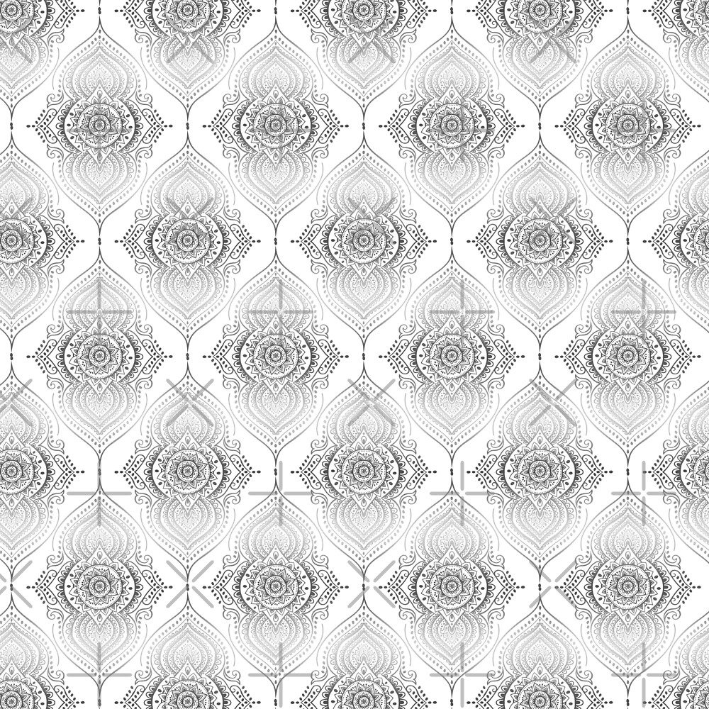 Silver gray Abstract Teardrops Geometric Pattern by artonwear
