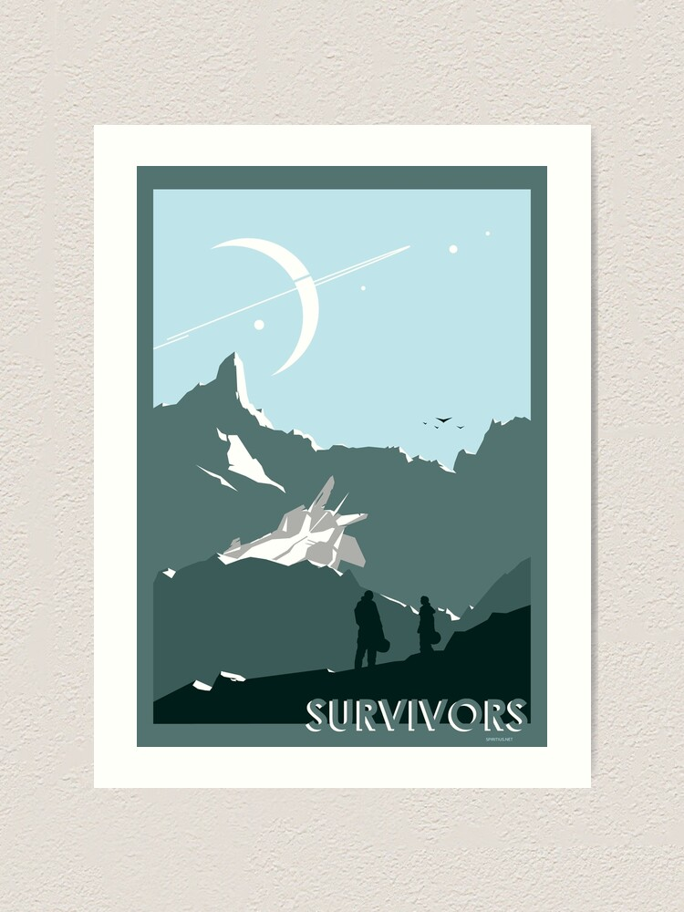 Alternate view of Space: Survivors Art Print