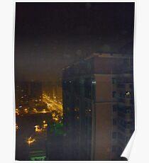 Eerie night lights Poster