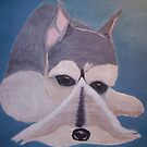 MY GRAND MOTHERS DOG ( SNOZER - ACRYLIC PAINT ) by TSykes