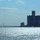 Panoramic View Of Downtown Detroit And Windsor by anitahiltz