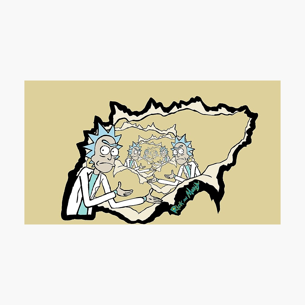 Rick Rips The Wallpaper Meme Rick And Morty Photographic Print