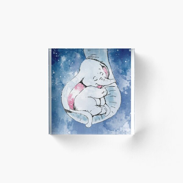 Dumbo and his mother, Mother and baby elephant Acrylic Block