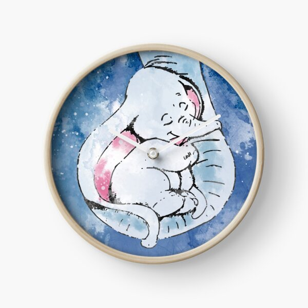 Dumbo and his mother, Mother and baby elephant Clock