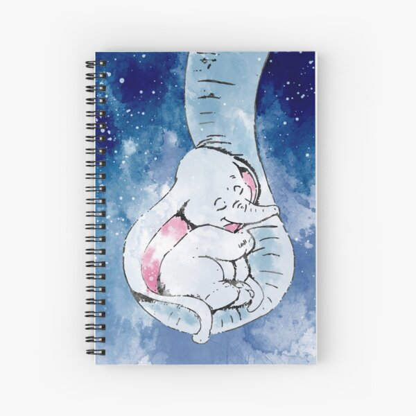 Dumbo and his mother, Mother and baby elephant Spiral Notebook