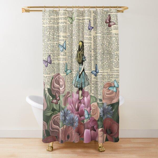 Alice In Wonderland - Wonderland Garden Shower Curtain