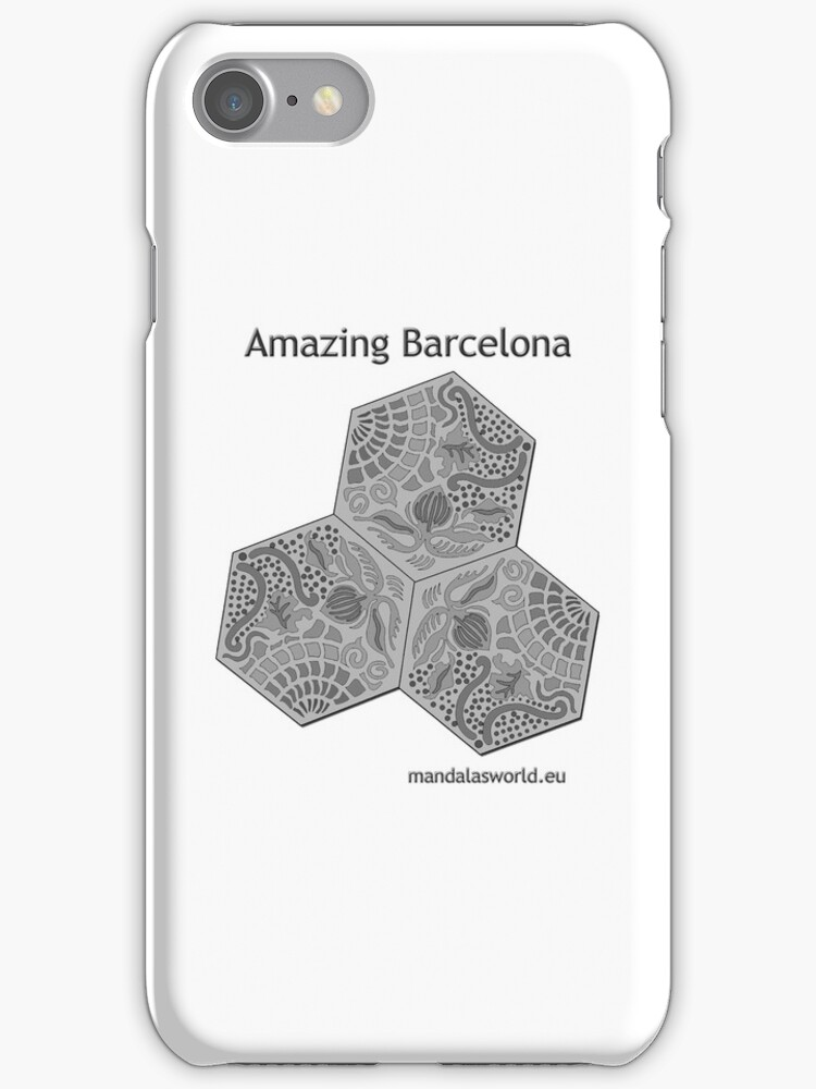 Modernist Gaudi Barcelona Tiles n1 by Mandala's World