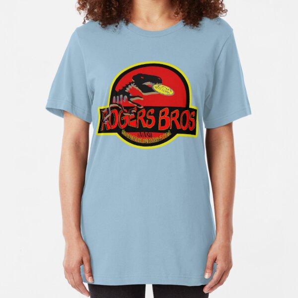 dinosaur by rogers bros Slim Fit T-Shirt