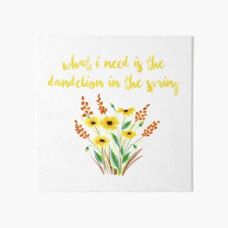 dandelion in the spring Art Board Print