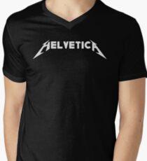 Helvetica Men's V-Neck T-Shirt