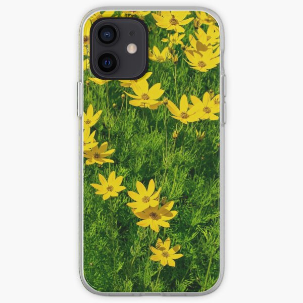 Whorled tickseed, Coreopsis verticillata, beautiful yellow flowers. iPhone Soft Case