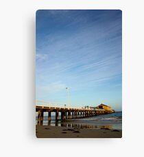 jetty shack Canvas Print