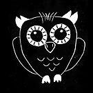 Cute Owl lino print by tmoriginals