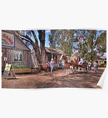 Main Street - Australian Pioneer Village,Wilberforce - The HDR Experience Poster