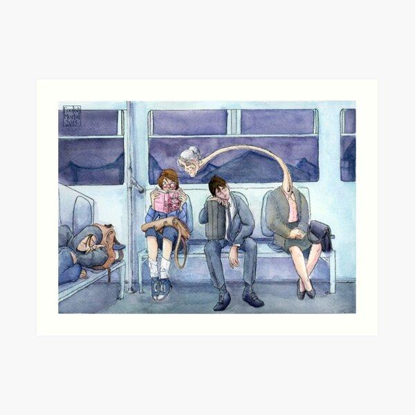 Late Night Train Art Print