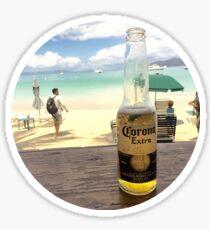 Corona On The Beach Sticker