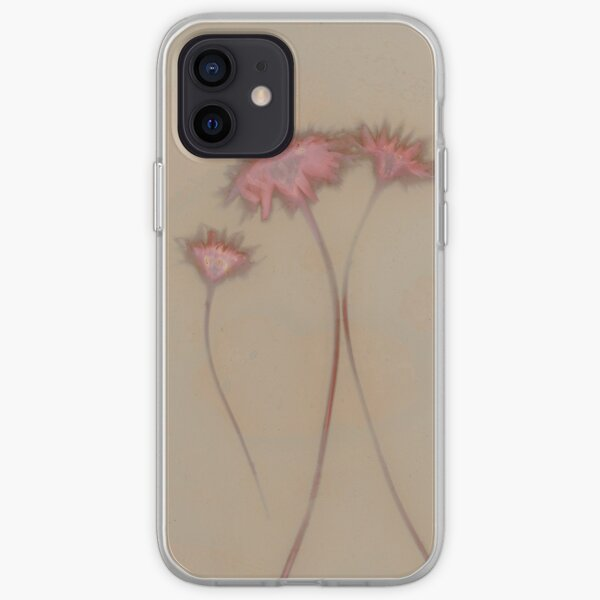 Lumen Print - Dandelions in pink and brown iPhone Soft Case