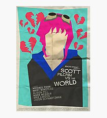 Scott Pilgrim Verses The World - Saul Bass Inspired Poster Photographic Print