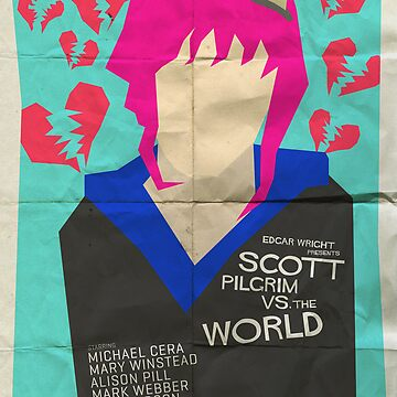 Scott Pilgrim Verses The World - Saul Bass Inspired Poster by lexxclark