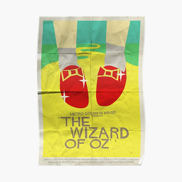 Wizard Of Oz - Saul Bass Inspired Poster Poster