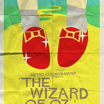 Wizard Of Oz - Saul Bass Inspired Poster by lexxclark
