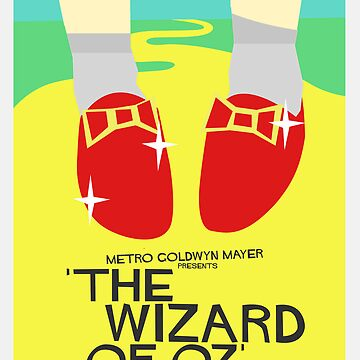 Wizard Of Oz - Saul Bass Inspired Poster (Untextured) by lexxclark