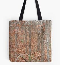 Fall in the Woods - A Pointillist Photo Tote Bag