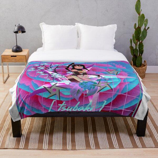 Tsubaki Camellia Throw Blanket