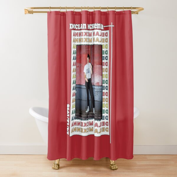Retro Declan McKenna Poster Shower Curtain