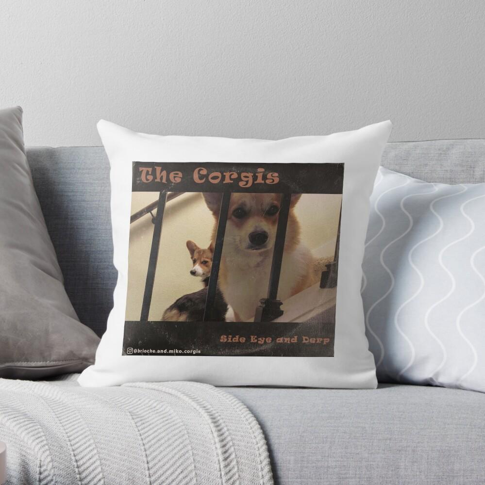 The Corgis Album Cover Throw Pillow